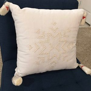 Hearth & Hand Accents - Hearth & Hand Snowflake Embroidered Pillow